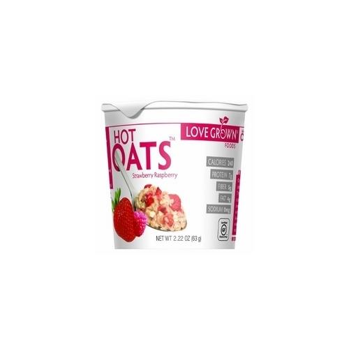 Love Grown Hot Strawberry Raspberry Oats (8x2.22Oz)