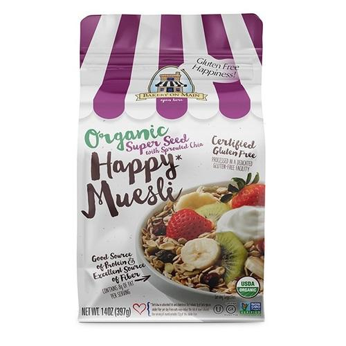Bakery On Main Happy Organic Muesli Super Seed with Sprouted Chia (4x14 OZ)