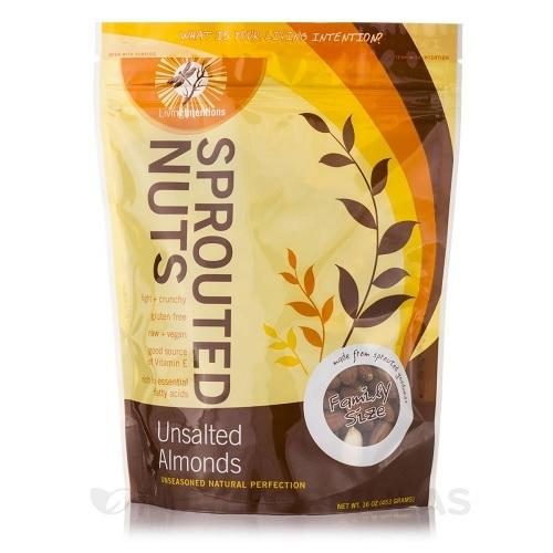 Living Intentions Sprouted Almonds (4x16 OZ)