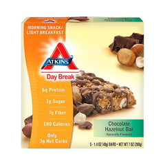 Atkins Day Break Bar Chocolate Hazelnut (1x5 Bars)