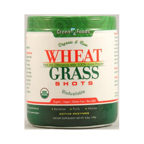 Green Foods Organic and Raw Wheat Grass Shots (1x5.3 Oz)