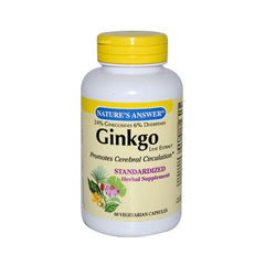 Nature's Answer Ginkgo Leaf Extract (60 Veg Capsules)