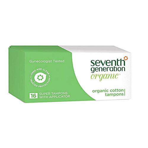 Seventh Generation Tampons Organic Cotton Applicator Super (1x16 Count)