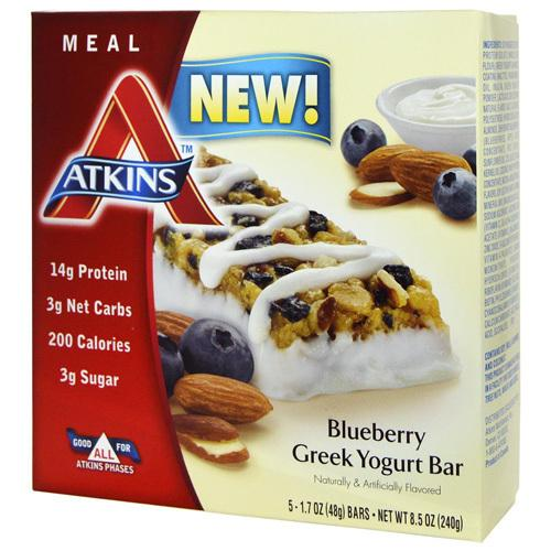 Atkins Advantage Bar Blueberry Greek Yogurt (5x 1.7 Oz)