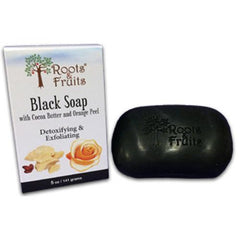 Roots and Fruits Bar Soap Black Soap Cocoa Butter and Orange Peel (1x5.0 Oz)