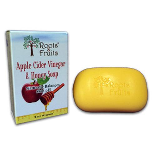 Roots and Fruits Bar Soap Apple Cider Vinegar and Honey (1x5.0 Oz)