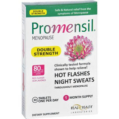 Promensil Menopause  Double Strength  Relief Hot Flashes Night Sweats  30 Tablets