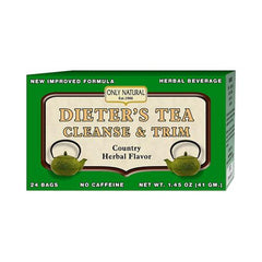 Only Natural Dieter's Tea Cleanse and Trim Country Herbal (1x24 Tea Bags)