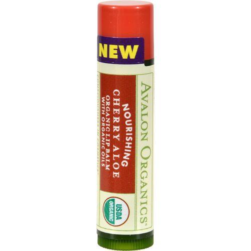 Avalon Organics Nourishing Aloe Organic Lip Balm Cherry  0.15 oz  Case of 24