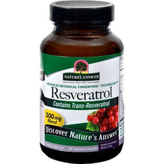 Nature's Answer Resveratrol  250 mg  60 Vegetarian Capsules