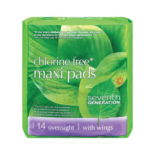 Seventh Generation Overnight Maxi Pads (1x14 CT)