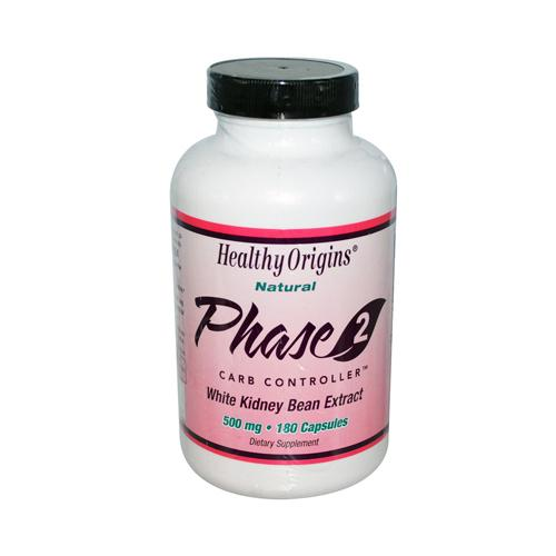 Healthy Origins Phase 2 Carb Controller 500 mg (180 Capsules)