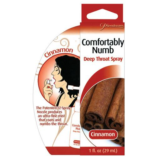 Comfortably Numb Deep Throat Spray - Cinnamon