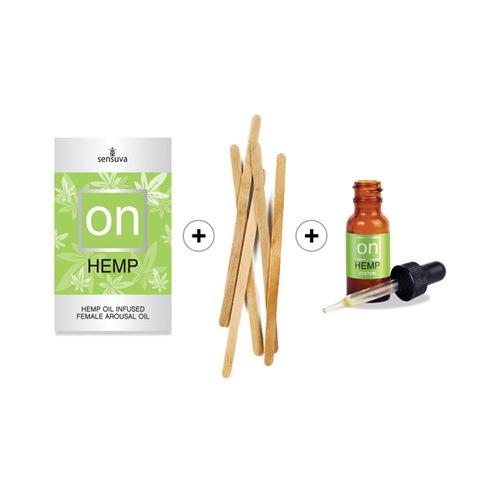 Promo Sensuva ON Hemp Oil Infused Female Arousal Oil 12pc Refill Kit w/Tester & Stir Sticks