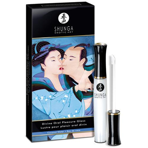 Shunga Divine Oral Pleasure Lipgloss - .33 oz Coconut Water