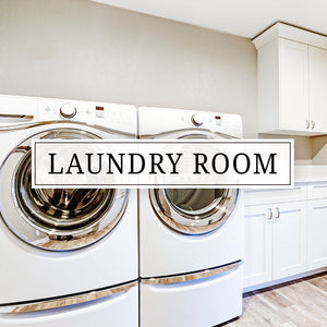 Vinyl wall decals, vinyl door decals, and stickers for your laundry room
