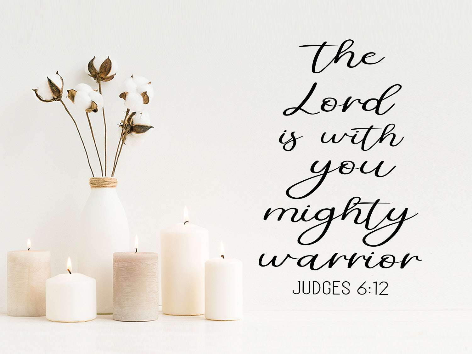 The Lord Is With You Mighty Warrior Judges 6 12 Bible Verse Wall Decal Story Of Home Decals