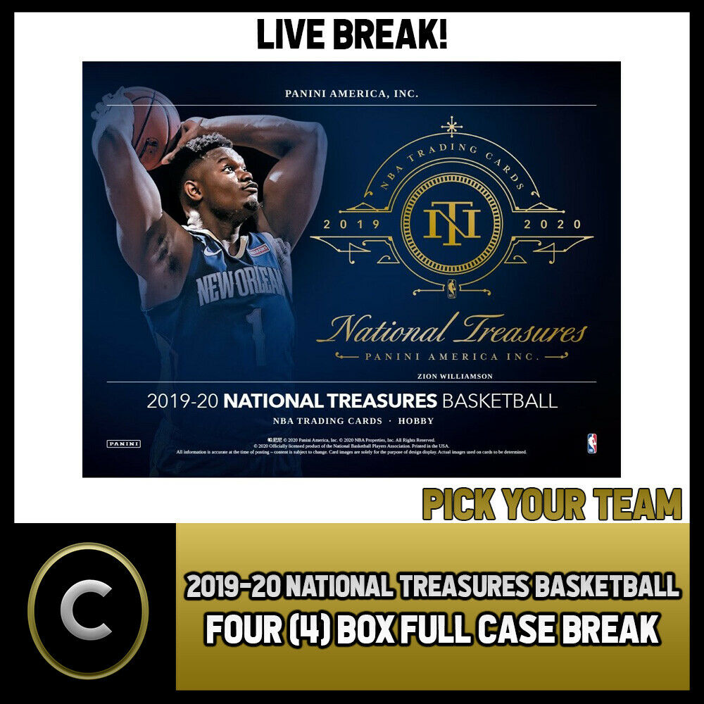 2019-20 NATIONAL TREASURES BASKETBALL 4 BOX (CASE) BREAK #B457 - PICK YOUR TEAM