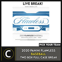 Load image into Gallery viewer, 2020 PANINI FLAWLESS BASEBALL 2 BOX (FULL CASE) BREAK #A1019 - PICK YOUR TEAM