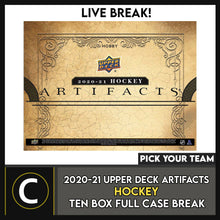 Load image into Gallery viewer, 2020-21 UPPER DECK ARTIFACTS HOCKEY 10 BOX CASE BREAK #H1108 - PICK YOUR TEAM