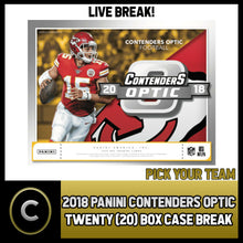 Load image into Gallery viewer, 2018 PANINI CONTENDERS OPTIC 20 BOX (FULL CASE) BREAK #F128 - PICK YOUR TEAM