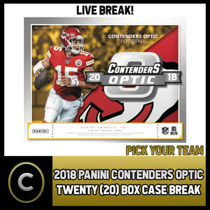 2018 PANINI CONTENDERS OPTIC 20 BOX (FULL CASE) BREAK #F128 - PICK YOUR TEAM