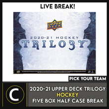 Load image into Gallery viewer, 2020-21 UPPER DECK TRILOGY HOCKEY 5 BOX HALF CASE BREAK #H1092 - PICK YOUR TEAM
