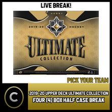 Load image into Gallery viewer, 2019-20 UPPER DECK ULTIMATE HOCKEY 4 BOX HALF CASE BREAK #H919 - PICK YOUR TEAM