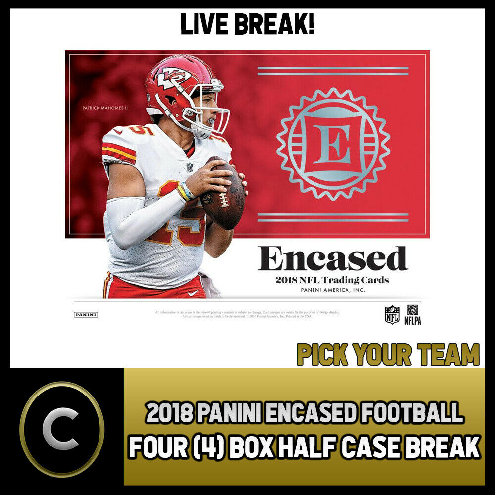 2018 PANINI ENCASED FOOTBALL 4 BOX (HALF CASE) BREAK #F289 - PICK YOUR TEAM