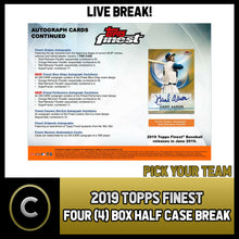 Load image into Gallery viewer, 2019 TOPPS FINEST BASEBALL 4 BOX (HALF CASE) BREAK #A801 - PICK YOUR TEAM