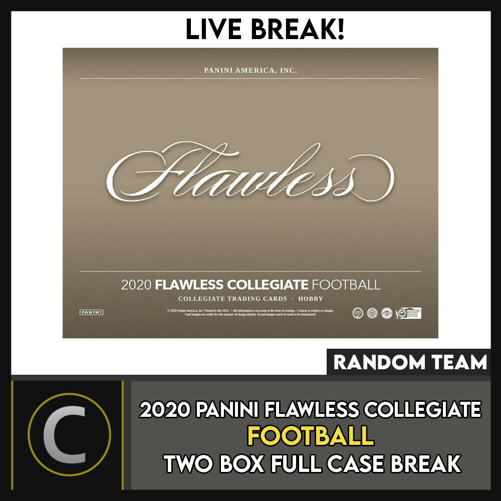 2020 PANINI FLAWLESS COLLEGIATE 2 BOX (FULL CASE) BREAK #F593 - RANDOM TEAMS