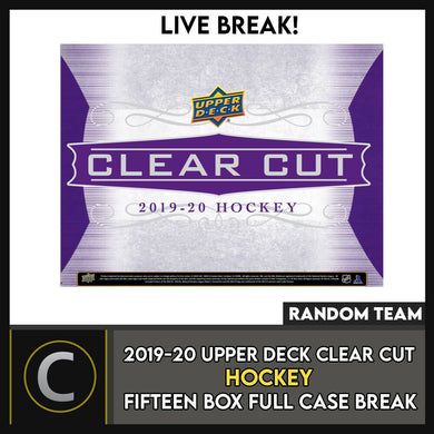 2017-18 UPPER DECK THE CUP 6 BOX FULL CASE BREAK #H161 - PICK YOUR TEAM -