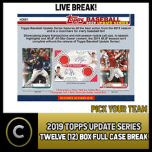 Load image into Gallery viewer, 2019 TOPPS UPDATE SERIES BASEBALL 12 BOX FULL CASE BREAK #A463 - PICK YOUR TEAM