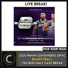 Load image into Gallery viewer, 2019-20 PANINI CONTENDERS OPTIC 10 BOX (HALF CASE) BREAK #B500 - PICK YOUR TEAM