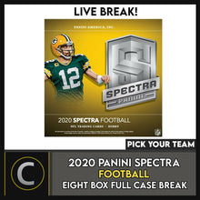 Load image into Gallery viewer, 2020 PANINI SPECTRA FOOTBALL 8 BOX (FULL CASE) BREAK #F553 - PICK YOUR TEAM