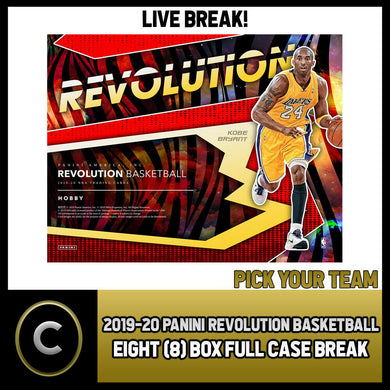 2019-20 PANINI REVOLUTION 8 BOX (FULL CASE) BREAK #B344 - PICK YOUR TEAM