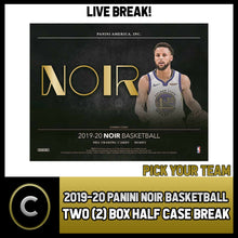 Load image into Gallery viewer, 2019-20 PANINI NOIR BASKETBALL 2 BOX (HALF CASE) BREAK #B418 - PICK YOUR TEAM