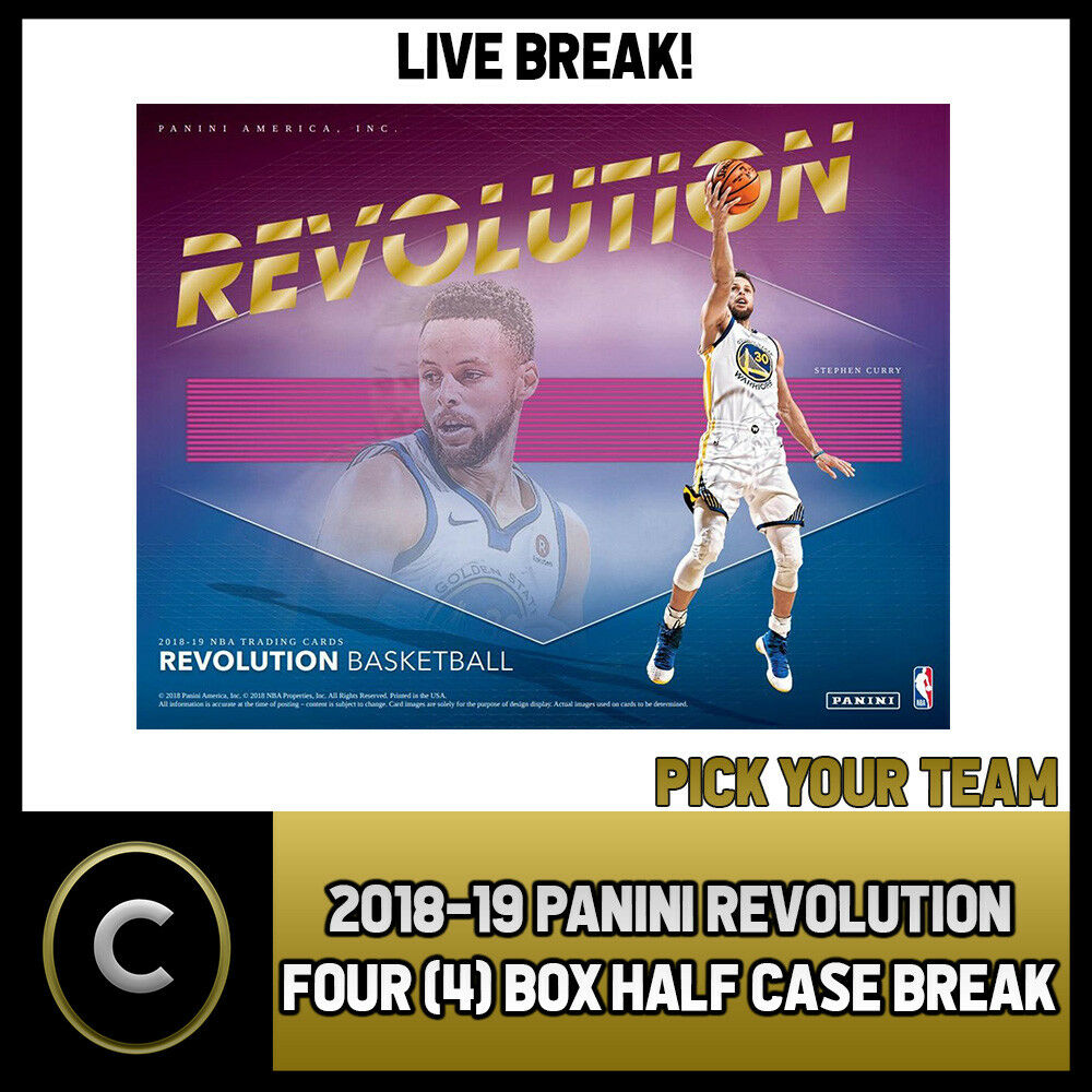 2018-19 PANINI REVOLUTION 4 BOX (HALF CASE) BREAK #B150 - PICK YOUR TEAM -