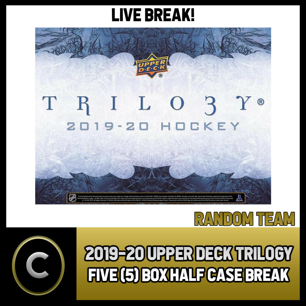 2019-20 UPPER DECK TRILOGY HOCKEY 5 BOX (HALF CASE) BREAK #H855 - RANDOM TEAMS