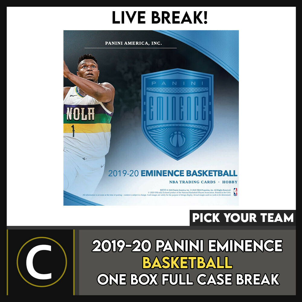 2019-20 PANINI EMINENCE BASKETBALL 1 BOX FULL CASE BREAK #B555 - PICK YOUR TEAM
