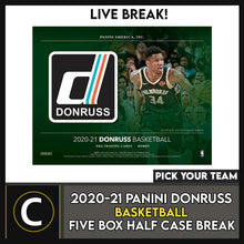 Load image into Gallery viewer, 2020-21 PANINI DONRUSS BASKETBALL 5 BOX (HALF CASE) BREAK #B562 - PICK YOUR TEAM