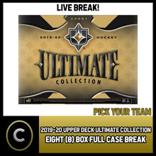 Load image into Gallery viewer, 2019-20 UPPER DECK ULTIMATE HOCKEY 8 BOX FULL CASE BREAK #H909 - PICK YOUR TEAM