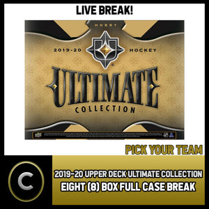 2019-20 UPPER DECK ULTIMATE HOCKEY 8 BOX FULL CASE BREAK #H909 - PICK YOUR TEAM