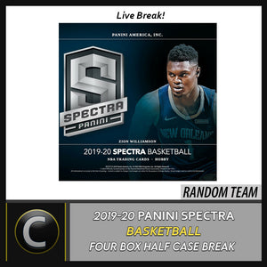 2019-20 PANINI SPECTRA BASKETBALL 4 BOX (HALF CASE) BREAK #B434 - RANDOM TEAMS