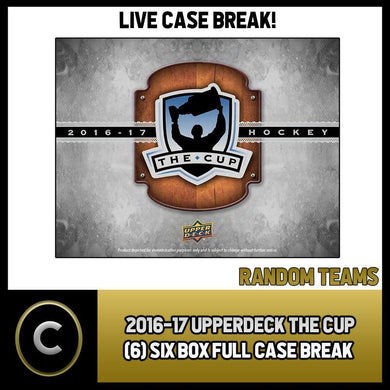 2016-17 UPPER DECK THE CUP (6) BOX FULL CASE BREAK #H342 - RANDOM TEAMS