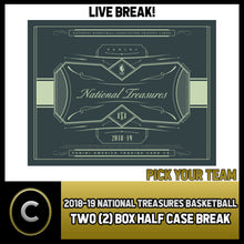 Load image into Gallery viewer, 2018-19 PANINI NATIONAL TREASURES 2 BOX (HALF CASE) BREAK #B211 - PICK YOUR TEAM