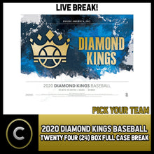 Load image into Gallery viewer, 2020 PANINI DIAMOND KINGS BASEBALL 24 BOX FULL CASE BREAK #A806 - PICK YOUR TEAM