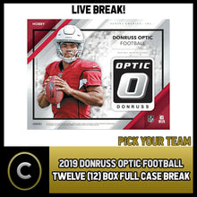 Load image into Gallery viewer, 2019 DONRUSS OPTIC FOOTBALL 12 BOX (FULL CASE) BREAK #F403 - PICK YOUR TEAM