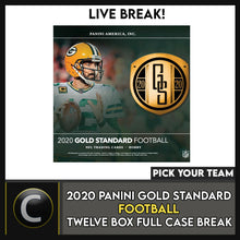 Load image into Gallery viewer, 2020 PANINI GOLD STANDARD FOOTBALL 12 BOX FULL CASE BREAK #F506 - PICK YOUR TEAM