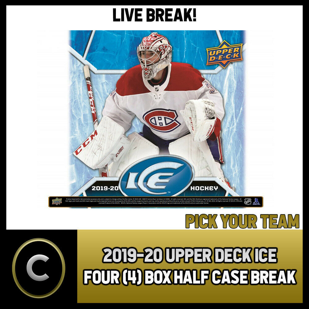 2019-20 UPPER DECK ICE HOCKEY 4 BOX (HALF CASE) BREAK #H873 - PICK YOUR TEAM
